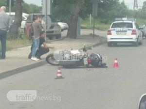 Блъснатият пловдивски полицай се размина със счупен крак СНИМКА