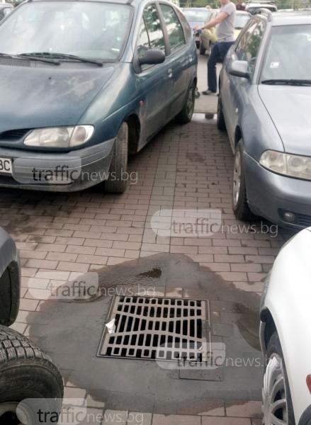 Велика инженерна мисъл на паркинг в Пловдив СНИМКИ