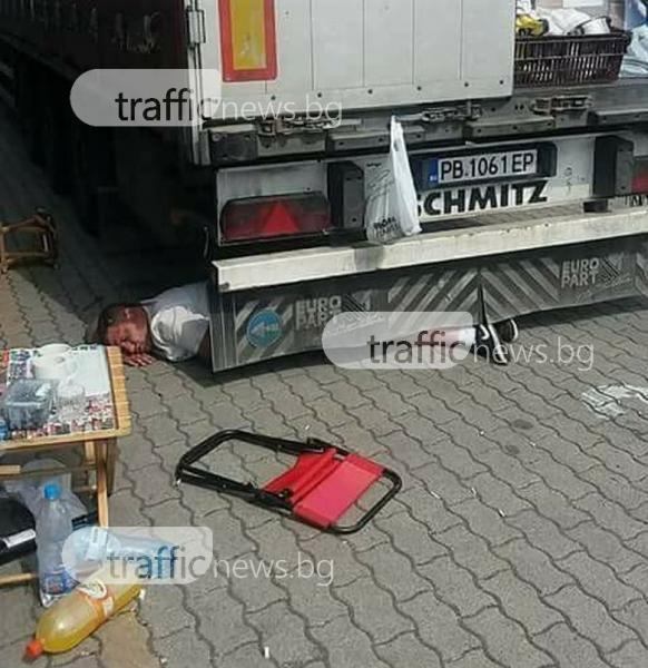 След запой: Пловдивски шофьор заспа под тир в Германия СНИМКА