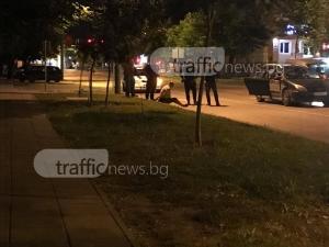 Показен арест в центъра на Пловдив, задържан оказва съпротива СНИМКИ
