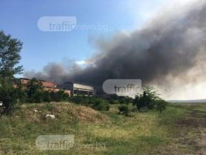 Подозират мълния за причина за големия пожар край Шишманци