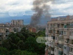 Голям пожар в Пловдив! Пет пожарни, линейки и полиция хвърчат към мястото СНИМКИ