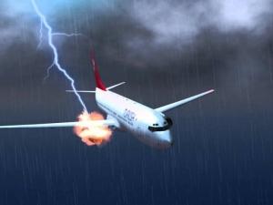 Мълния удари пътнически самолет