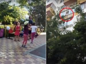 """Мъж хвърли плик с """"вряла вода"""" по деца пред блока си ВИДЕО"""