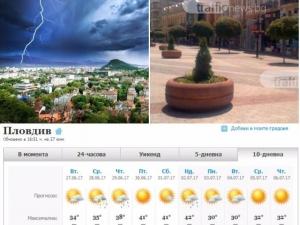 Екстремно време в Пловдив! Удрят ни летни бури, след това идват жеги от 42 градуса