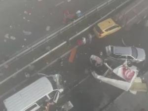 40 автомобила са се ударили на Тракия, 31 души са ранени ВИДЕО