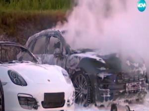 Луксозни коли за 1 милион евро изгоряха, подпалени от протестиращи