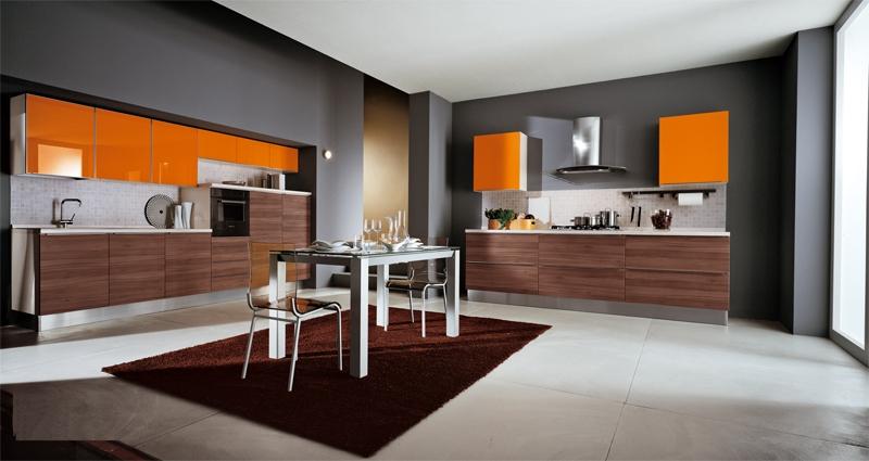 Свежа идея: Оранжев дизайн за кухня СНИМКИ