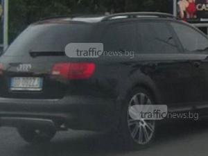 Шофьор на ауди не признава светофарите в Пловдив, минава два пъти на червено ВИДЕО
