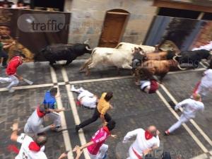 Survivor! Бизнесменът Владимир Вишански бяга с бикове в Памплона