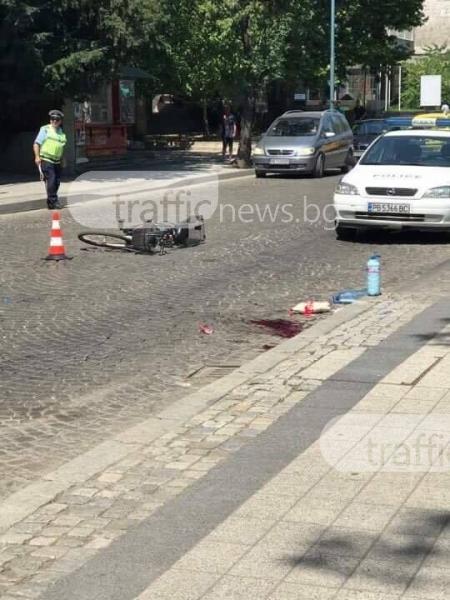 Джип отнесе колоездач пред Морадо, пострадалият е в тежко състояние СНИМКИ