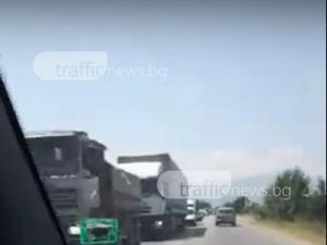 Катастрофа блокира Околовръстното на Пловдив ВИДЕО