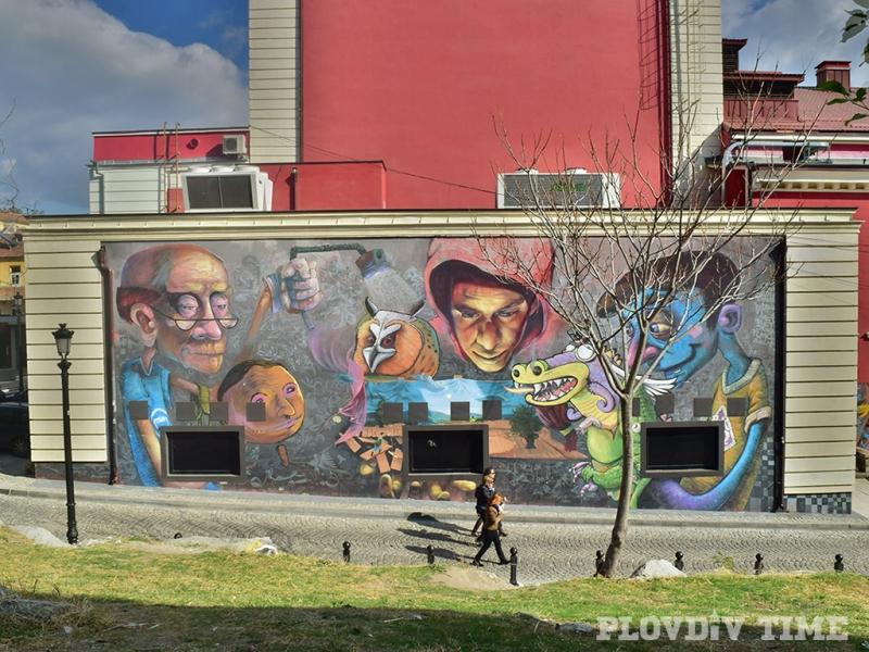 Смайващите графити по стените на Пловдив! ВИДЕО