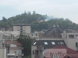 Пожар в Пловдив! Гори склон на Бунарджика СНИМКИ