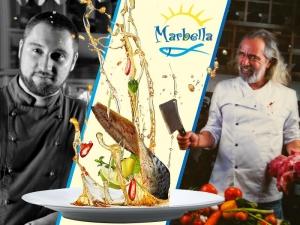 Андрей Слабаков и шеф Росен Чакъров на кулинарната сцена на ресторант Марбея