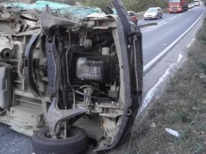 """Жена загина при тежка катастрофа на магистрала """"Тракия"""""""