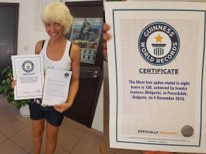 Официално: Фризьорката от Пазарджик получи потвърждението от Гинес