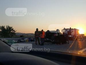 Още СНИМКИ от мелето на магистралата край Пловдив