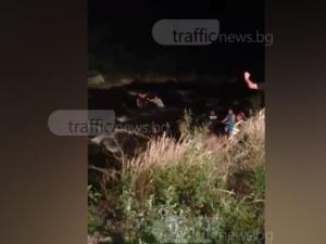 ВИДЕО показва акцията по спасяването на 10 деца край Пазарджик