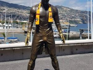 Кристияно Роналдо носи шалче на Ботев СНИМКИ