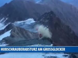Хеликоптер катастрофира при опит да спаси алпинист ВИДЕО