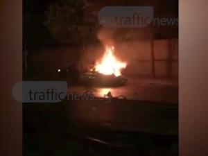 """Пламъци унищожили мерцедеса от катастрофата на """"Санкт Петербург"""" ВИДЕО"""