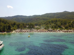 Пловдивчанин засне с дрон гъзарски плаж на Тасос. Защо гъзарски?, ще разберете СНИМКИ