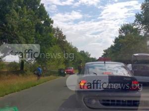 Трима са ранени при катастрофата с обърната кола в Пловдивско, сред тях има и дете СНИМКА