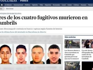 Потвърдено: 4-ма атентатори от Барселона са мъртви
