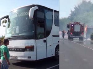 Автобус с пътници бил на метри от гърмящите бутилки край Пловдив ВИДЕО