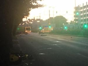"""Смърт на пътя! Моторист е починал при катастрофа на бул.""""България"""" ВИДЕО+СНИМКИ"""