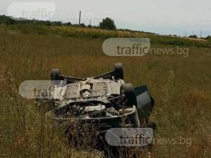 Жена е в болница след тежката катастрофа вчера край Житница