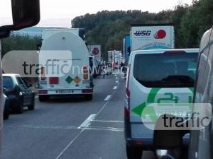 Катастрофа блокира движението на магистрала Тракия край Пловдив