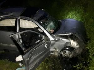 Кола излетя от път край Пловдив, спасиха жена и две деца от размазаното возило СНИМКИ