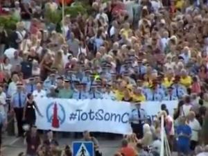 Хиляди излязоха на протест срещу тероризма