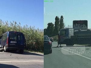 Шофьорът на пикапа е виновен за мелето на Околовръстното на Пловдив СНИМКИ