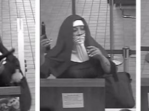 """Въоръжени """"монахини"""" опитаха да оберат банка ВИДЕО"""