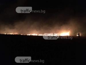 Голям пожар вилня край Куклен, седем пожарни гасиха пламъците СНИМКИ