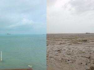 """Къде е океанът? """"Ирма"""" изсмука водата край плажовете на Бахамите ВИДЕО+СНИМКИ"""