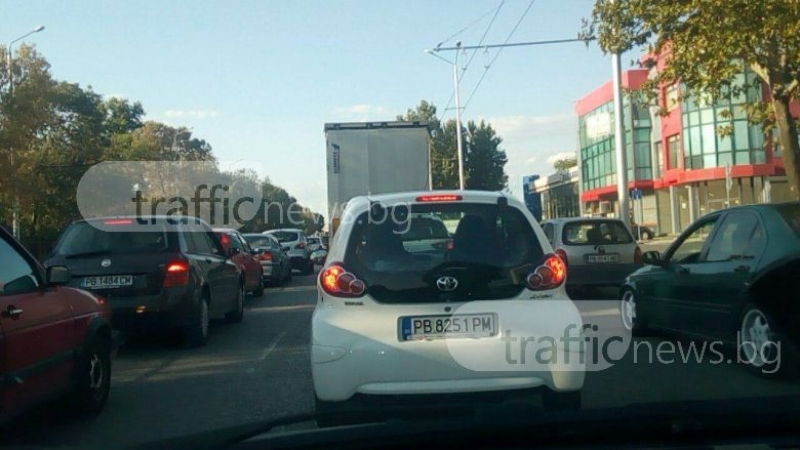 Ад в Пловдив! Градът се превърна в една огромна тапа СНИМКИ