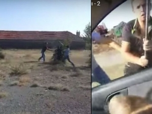 Тумба роми пребиха брутално с брадви млад мъж, приятелката му засне зверството ВИДЕО