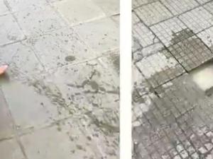 Абсурд! Пешеходец пропадна в зейнала дупка с вряла вода на оживена улица ВИДЕО