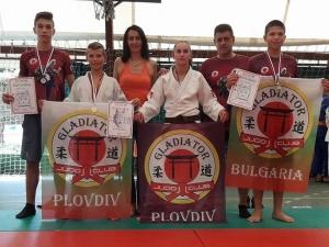 Пловдивският джудо клуб Гладиатор с пълен комплект отличия в Сърбия