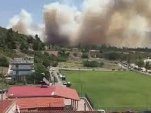 Бедствие в Гърция! Пожар бушува на Халкидики, огънят е близо до къщите