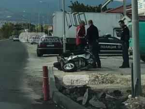 Моторът от зверската катастрофа в Пловдив все още е на мястото на инцидента СНИМКИ