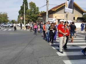 Протестиращи блокираха пътя Пазарджик - Велинград