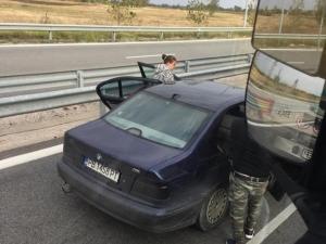 4-ма нападнаха наш шофьор на ТИР на Дунав мост СНИМКИ