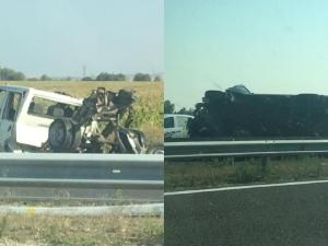 Две катастрофи блокираха магистрала Тракия край Пловдив СНИМКИ