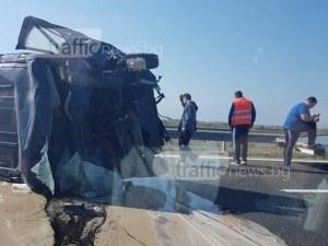 Възстановиха движението по магистралата между София и Пловдив