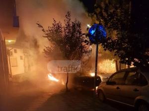 Нощни СНИМКИ показват палежа на колата на репортер на Господарите в Карлово ВИДЕО